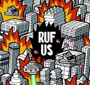Ilustración Flyer Skate Rufus
