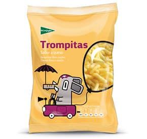 Packaging tronquitos queso El Corte inglés