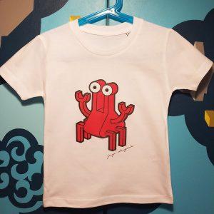 Camiseta orgánica con ilustración Cangrejo