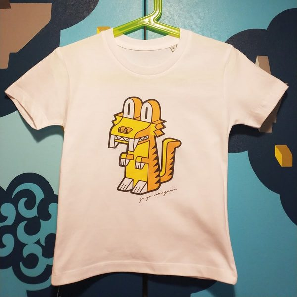 Camiseta orgánica con ilustración Dientes de Sable