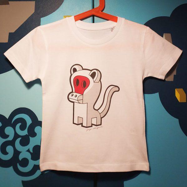 Camiseta orgánica con ilustración Monkey