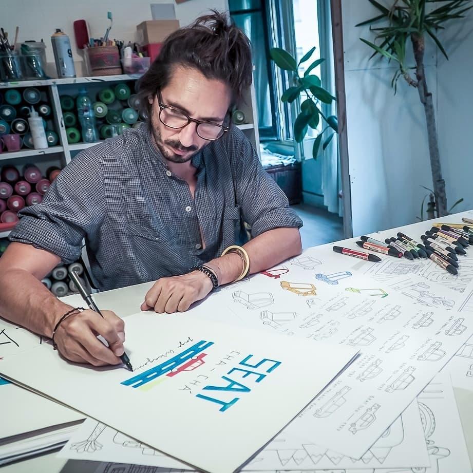 Seat ilustrando Jorge Ochagavía