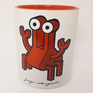 Taza de cerámica con ilustración cangrejo