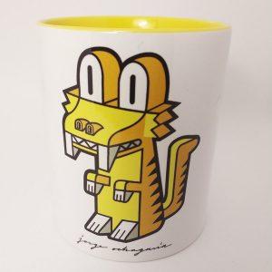 Taza de ceramica con ilustración Dientes de Sable