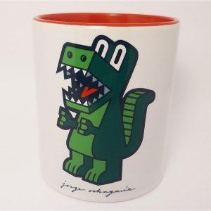 Taza de ceramica con ilustración Dinosaurio