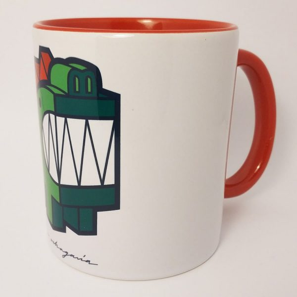 Taza de ceramica con ilustración Dragón
