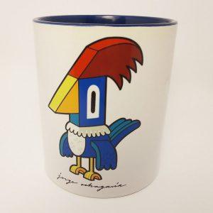 Taza de ceramica con ilustración Pájaro Loco