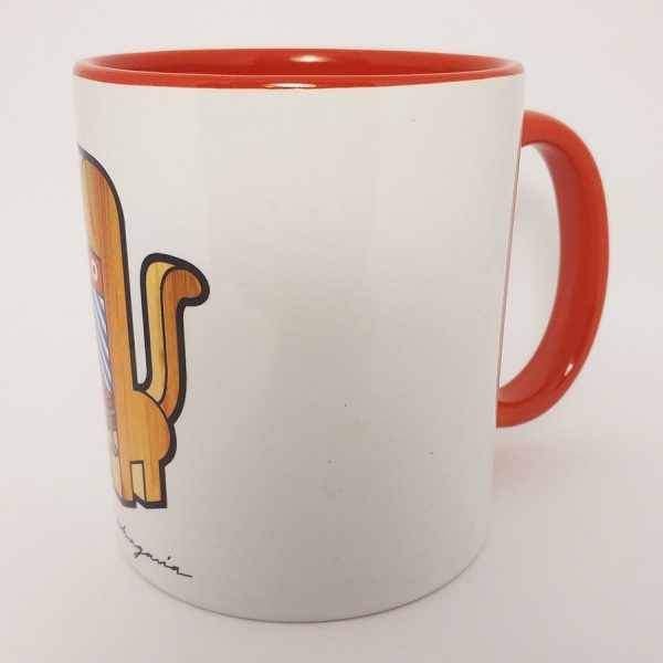 Taza de ceramica con ilustración Mandril
