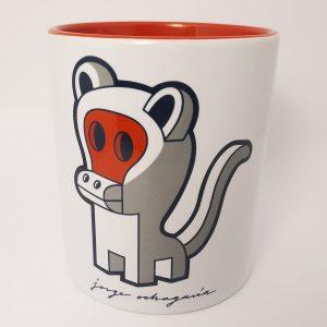 Taza de ceramica con ilustración Monkey