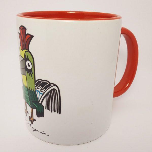 Taza de ceramica con ilustración Rock Bird